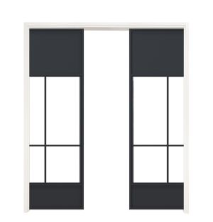 Name Sake Double Converging Pocket Doors