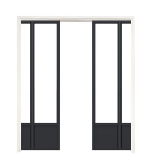 Canter Double Converging Pocket Doors