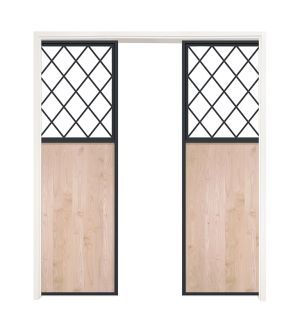 French Farm Double Converging Pocket Doors