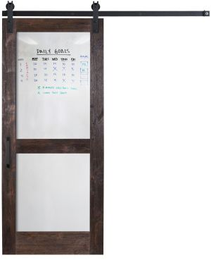 Split Whiteboard Barn Door