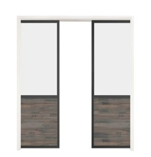 Chalet Double Converging Pocket Doors