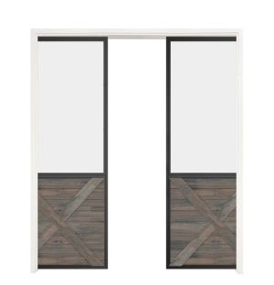 Vision Double Converging Pocket Doors