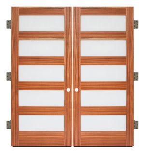 5 Panel Exterior Double Slab Door