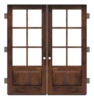 Boat House Exterior Double Slab Door