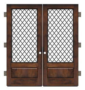 Hudson Floral Exterior Double Slab Door
