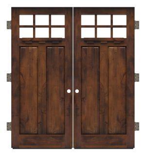 Apprentice Exterior Double Slab Door