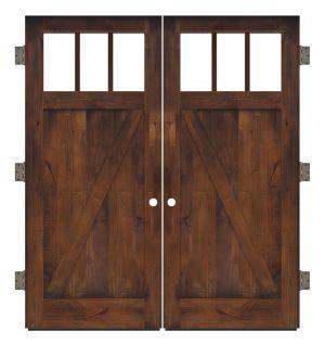 Clover Pass Exterior Double Slab Door