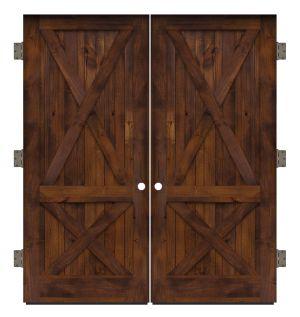 Care Taker Exterior Double Slab Door