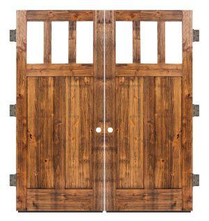 Craftsman Exterior Double Slab Door