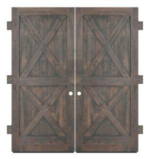 Double X Exterior Double Slab Door
