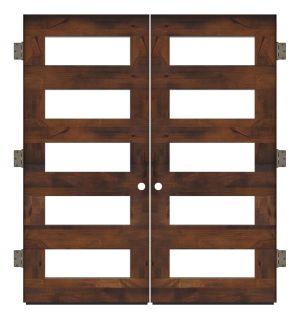 East Bench Exterior Double Slab Door