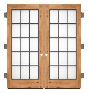 Farmhouse French Full Exterior Double Slab Door
