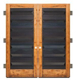 Helms Exterior Double Slab Door