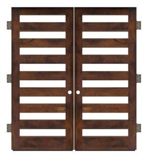 Highland Exterior Double Slab Door