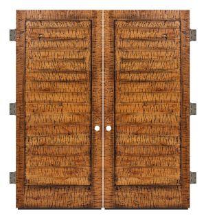 Horizontal Lewiston Exterior Double Slab Door