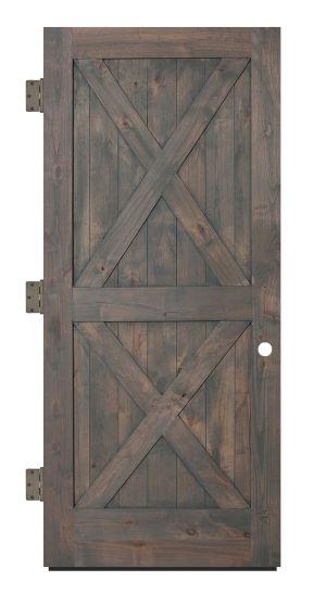 Double X Exterior Slab Door