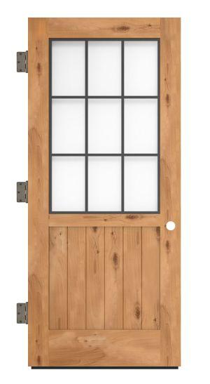 Farmhouse French Half Exterior Slab Door