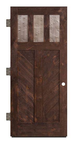 Chevron Exterior Slab Door