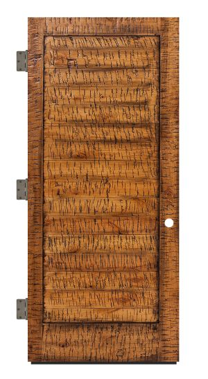 Horizontal Lewiston Exterior Slab Door