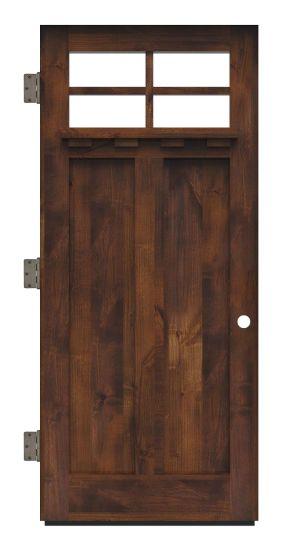 Left Fork Exterior Slab Door
