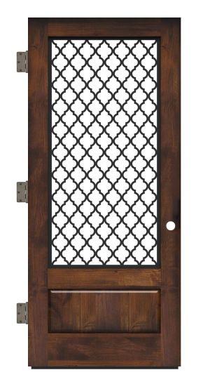 Hudson Floral Exterior Slab Door