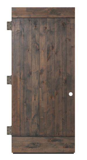 True Exterior Slab Door
