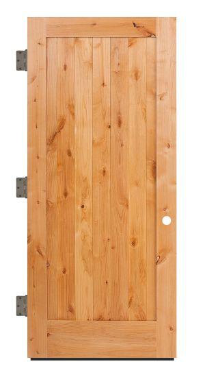 Vertical Lewiston Exterior Slab Door