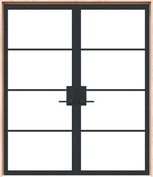Modern Cottage Interior Double Door