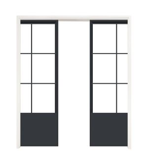 French Quarter Converging Pocket Doors