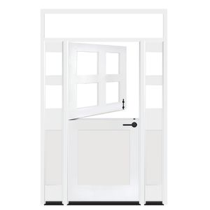 Country Dutch Exterior Door With Sidelights And Transom Window