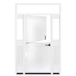 Bakery Dutch Exterior Door With Sidelights And Transom Window