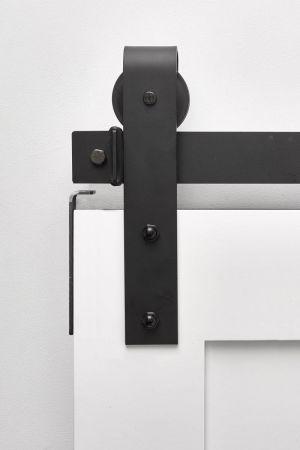Stag Flat Black - Same Day Ship Barn Door Hardware