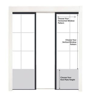 Customizable Metal Converging Pocket Doors
