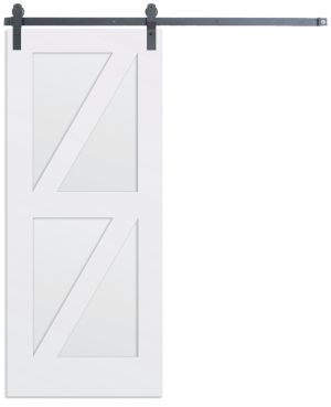 Contemporary Double Z Barn Door