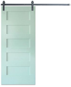 Contemporary 5 Panel Barn Door