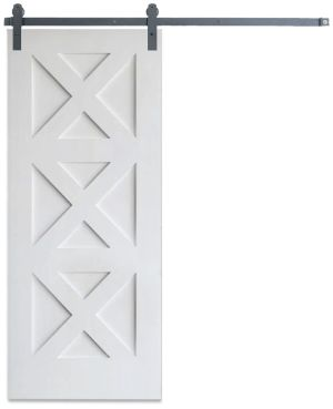 Contemporary Triple X Barn Door