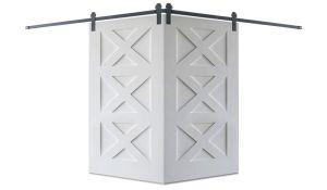 Contemporary Panel Corner Barn Door