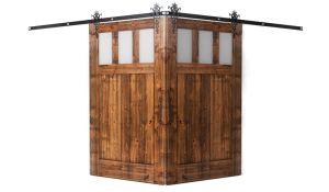 Craftsman Corner Barn Door