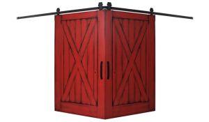 Full X Corner Barn Door