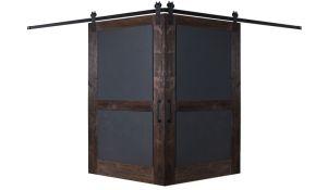 Chalkboard Corner Barn Door