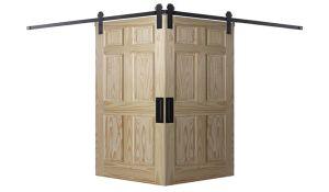 6 Panel Colonial Corner Barn Door