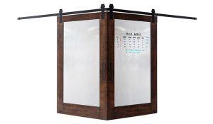 Whiteboard Corner Barn Door