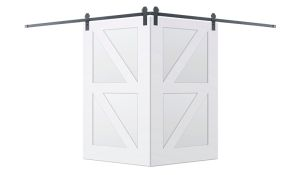 Contemporary Double Z Corner Barn Door