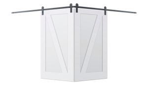Contemporary Z Corner Barn Door