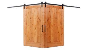 Lewiston Corner Barn Door