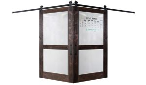 Split Whiteboard Corner Barn Door