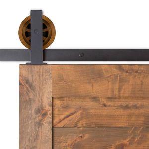 Artisan Top Mount Barn Door Hardware - Big Wheel