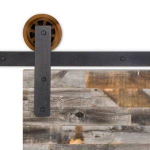 Upton Barn Door Hardware - Big Wheel