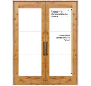 Customizable Double Interior Wood Door