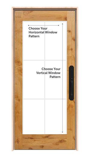 Customizable Wood Exterior Door